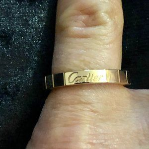 Cartier 18K Yellow Gold 3mm Band Ring